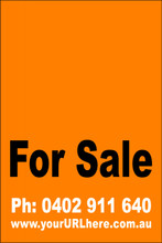 For Sale Sign No. 10 Customise your Ph & URL