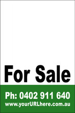For Sale Sign No. 14 Customise your Ph & URL