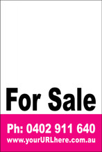 For Sale Sign No. 17 Customise your Ph & URL