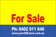 For Sale Sign No. 1 Landscape Customise your Ph & URL