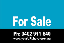 For Sale Sign No. 3 Landscape Customise your Ph & URL