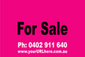 For Sale Sign No. 9 Landscape Customise your Ph & URL