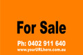 For Sale Sign No. 10 Landscape Customise your Ph & URL