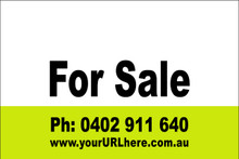 For Sale Sign No. 11 Landscape Customise your Ph & URL