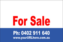 For Sale Sign No. 12 Landscape Customise your Ph & URL