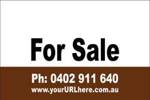 For Sale Sign No. 19 Landscape Customise your Ph & URL