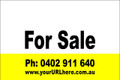 For Sale Sign No. 21 Landscape Customise your Ph & URL