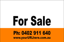 For Sale Sign No. 22 Landscape Customise your Ph & URL