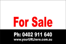 For Sale Sign No. 24 Landscape Customise your Ph & URL