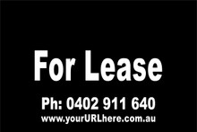 For Lease Sign No. 7 Landscape Customise your Ph & URL