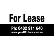 For Lease Sign No. 13 Landscape Customise your Ph & URL