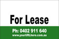 For Lease Sign No. 14 Landscape Customise your Ph & URL