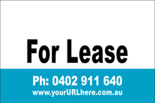 For Lease Sign No. 15 Landscape Customise your Ph & URL