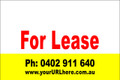 For Lease Sign No. 18 Landscape Customise your Ph & URL