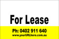 For Lease Sign No. 21 Landscape Customise your Ph & URL