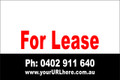 For Lease Sign No. 24 Landscape Customise your Ph & URL