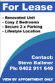 For Lease Sign No. G10 Customise your details