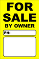 For Sale By Owner FSBO Sign - Yellow