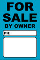 For Sale By Owner FSBO Sign - Light Blue