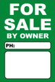 For Sale By Owner FSBO Sign No: 4- Green
