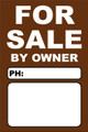 For Sale By Owner FSBO Sign No: 11- Brown