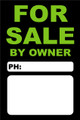 For Sale By Owner FSBO Sign No: 13- Green/Black
