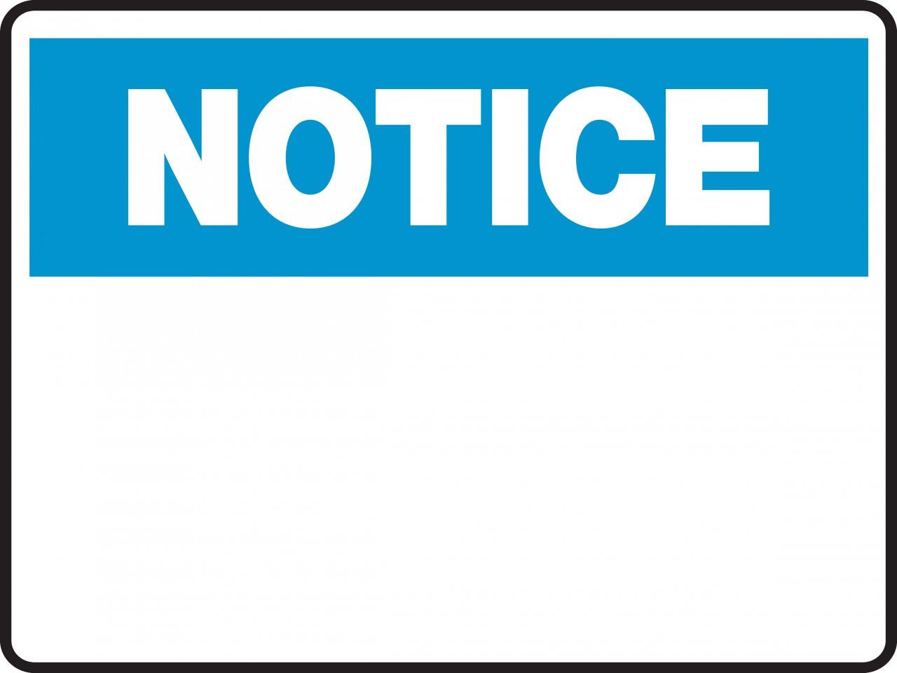 Notice Sign Blank Insert Custom Text Ready Signs