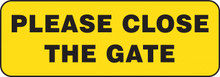GARDEN & LAWN SIGN - PLEASE CLOSE THE GATE