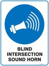 Mandatory Sign - BLIND INTERSECTION SOUND HORN
