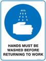 Mandatory Sign - HANDS MUST BE WASHED BEFORE RETURNING TO WORK