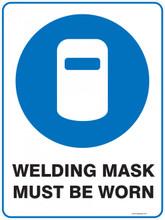 Mandatory Sign - WELDING MASK MUST BE WORN