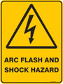 Warning  Sign - ARC FLASH AND SHOCK HAZARD