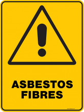 Warning  Sign - ASBESTOS FIBRES