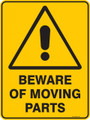 Warning  Sign - BEWARE OF MOVING PARTS