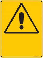 Warning  Sign - BLANK  Sign - PICTOGRAM