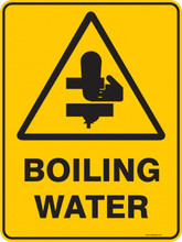Warning  Sign - BOILING WATER