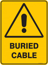 Warning  Sign - BURIED CABLE