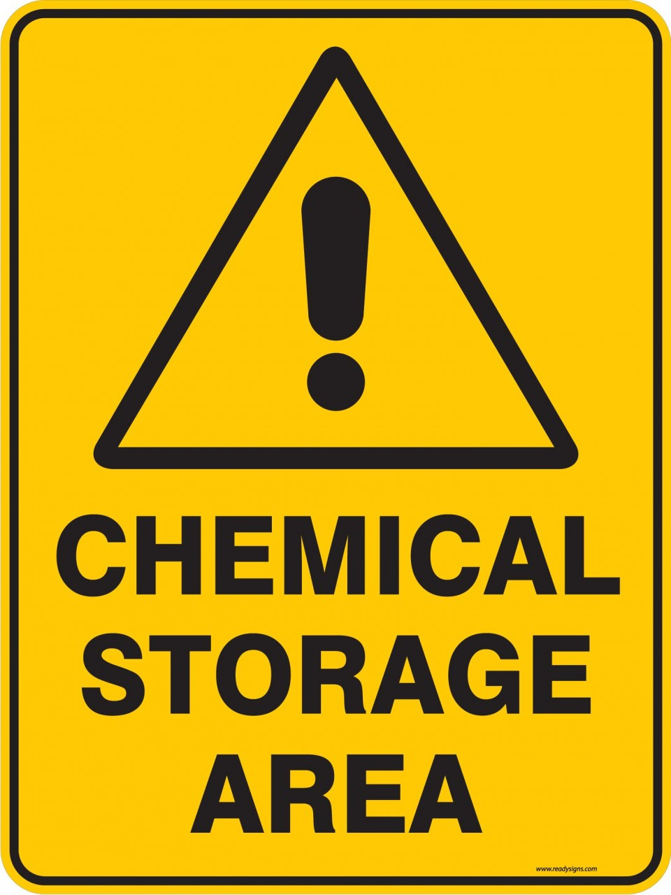 Warning Sign Chemical Storage Area Ready Signs