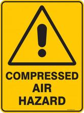 Warning  Sign - COMPRESSED AIR HAZARD