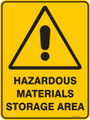 Warning  Sign - HAZARDOUS MATERIALS STORAGE AREA