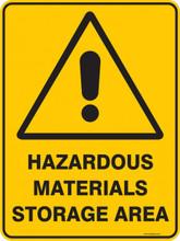 Warning  Sign - HAZARDOUS MATERIALS STORAGE AREA