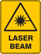 Warning  Sign - LASER BEAM
