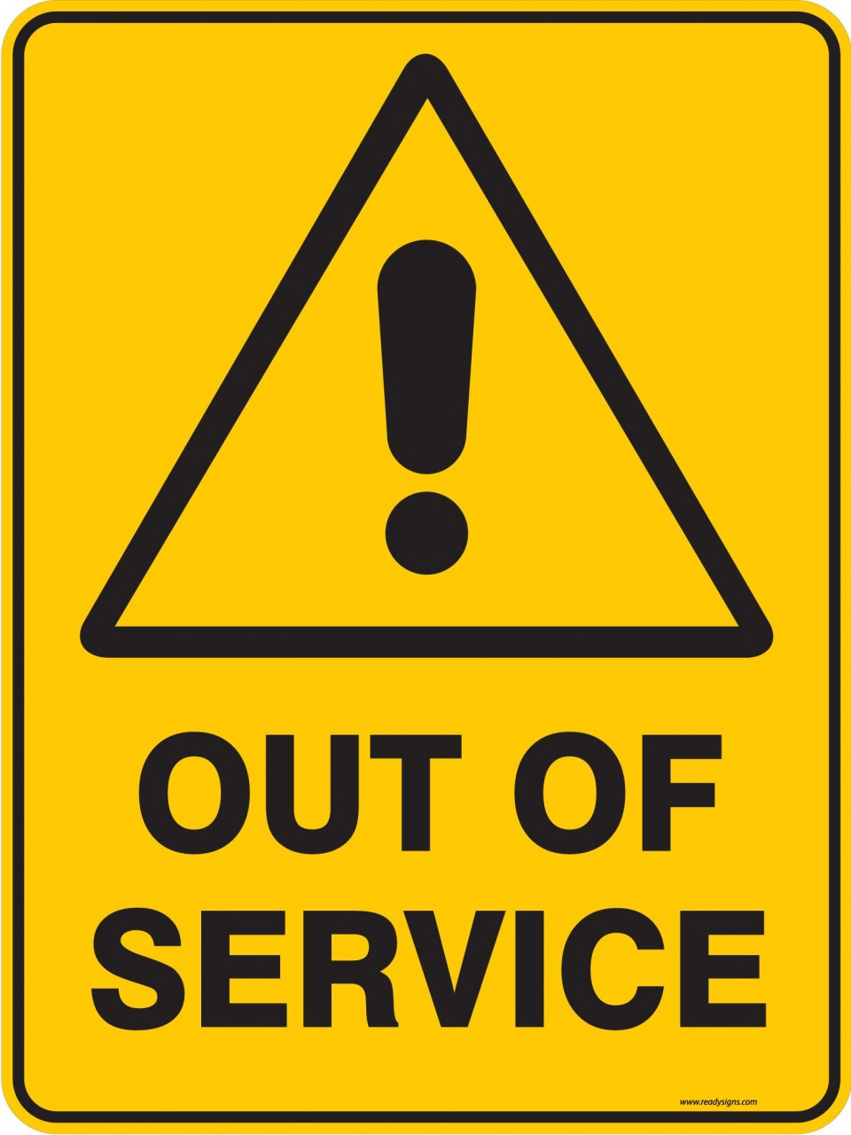 Warning sign out of service ready signs for Fuera de servicio imagenes