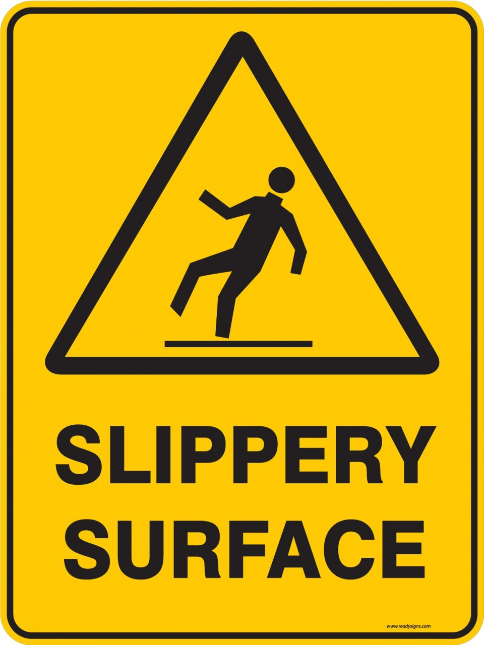 Warning Sign Slippery Surface Ready Signs