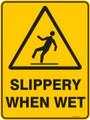 Warning  Sign - SLIPPERY WHEN WET