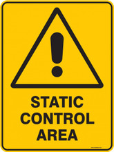 Warning  Sign - STATIC CONTROL AREA