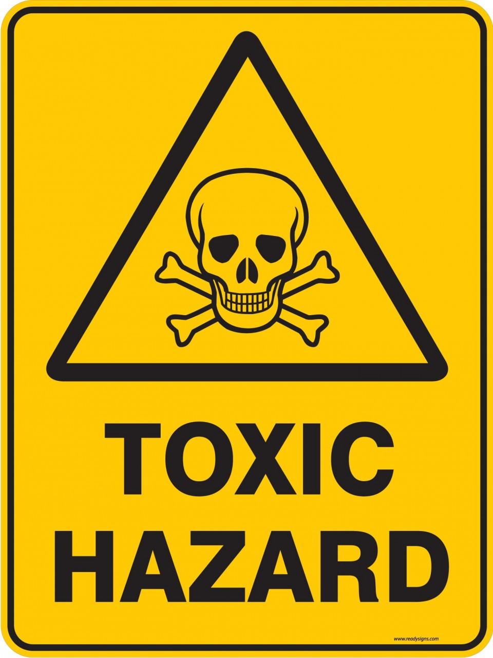 Warning Sign - TOXIC HAZARD - Ready Signs
