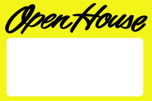 Open House Sign Yellow - Blank