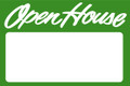Open House Sign Green - Blank
