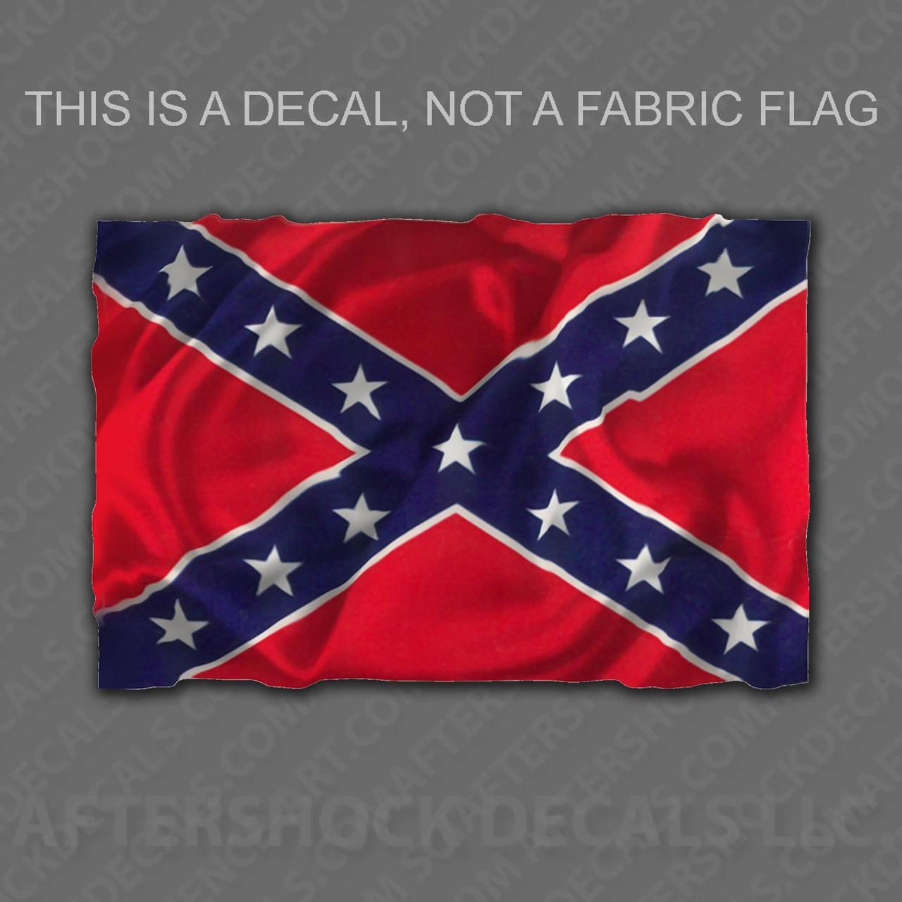 Confederate rebel flag sticker